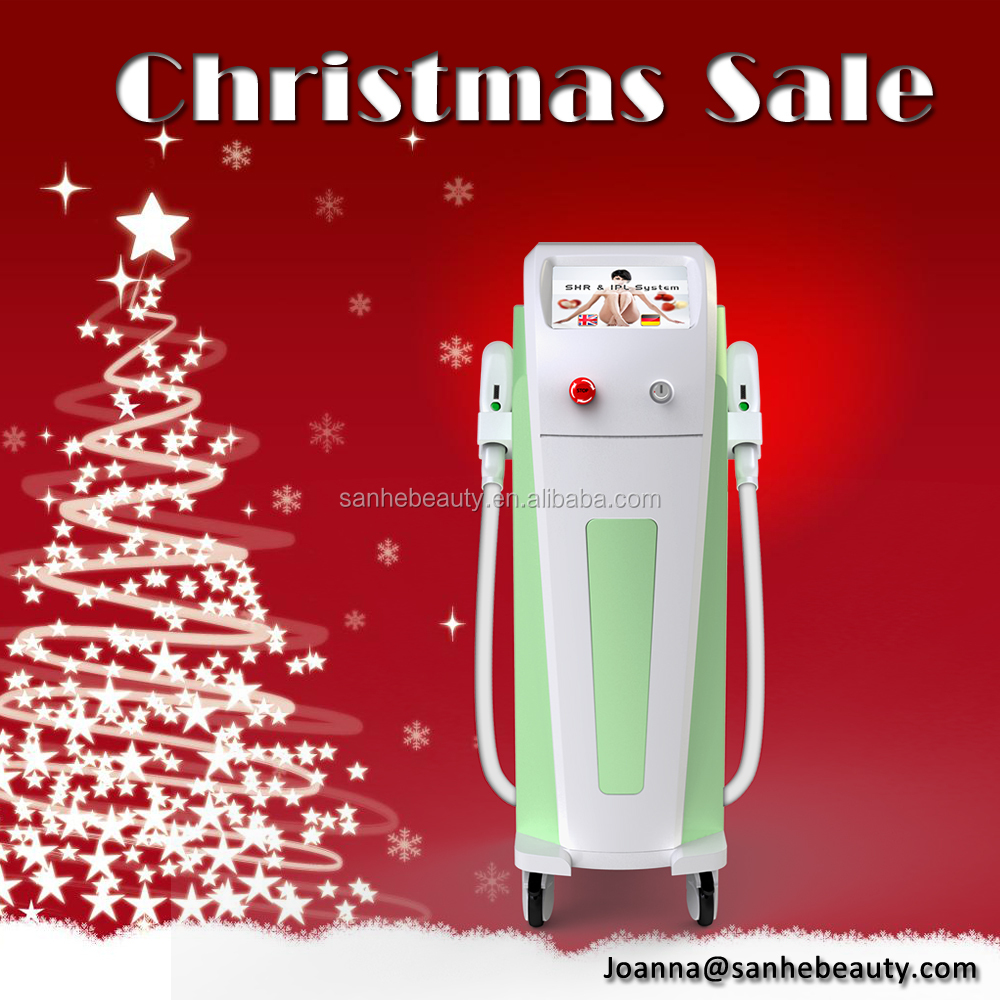 Christmas Promotion IPL SHR hair removal and skin rejuvenation shr opt depilation 3 in 1 beauty machine