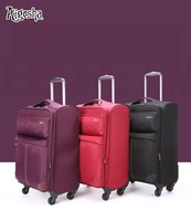 Cheap hard shell ABS PC luggage, waterproof oxford fabric nylon soft suitcase sets made in Guangzhou factory