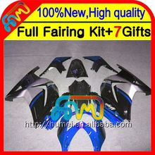 Body+ blue silver For 250R Kawasaki 08 09 10 11 12 17#222 black Ninja EX250 ZX250R EX 250 2008 2009 2010 2011 2012 Fairing