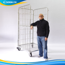zinc metal logistics cart laundry basket roll container