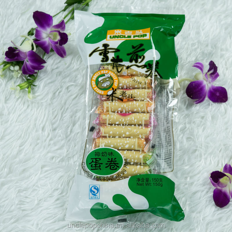 coconut flavor 150g snow egg roll wafer