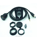 1 Meter 3ft 3.5mm & USB AUX Extension Dash Flush Panel Mount Cable
