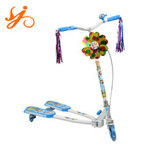 classic fashion kid scooter with bell / cheap mini baby foot scooter / pedal skate scooter wholesale