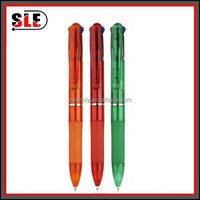 3 in 1 transparent color ballpen with your logo