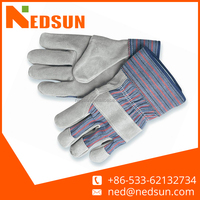 High quality cowhide labour protection split leather safety gloves