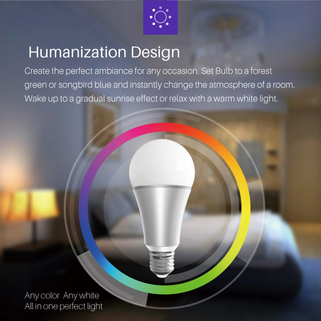 2018 China supplier led bulbs wholesale Z-wave smart colored led bulb light