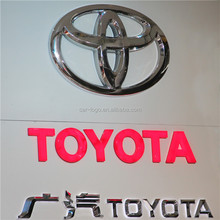 Shanghai Custom any Brand Car Store Front Outdoor Free Standing Acrylic Car logo Sign / LED light Car logo Sign