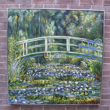 Water Lilies and Japanese Bridge by Claude Monet oil painting sample