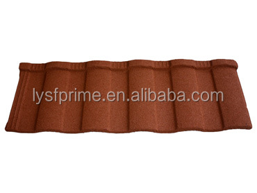 stone tile / colorful stone coated metal roofing Rainbow Tile
