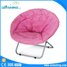 Big round foldable canvas comfortable moon chair camping garden lounge chair