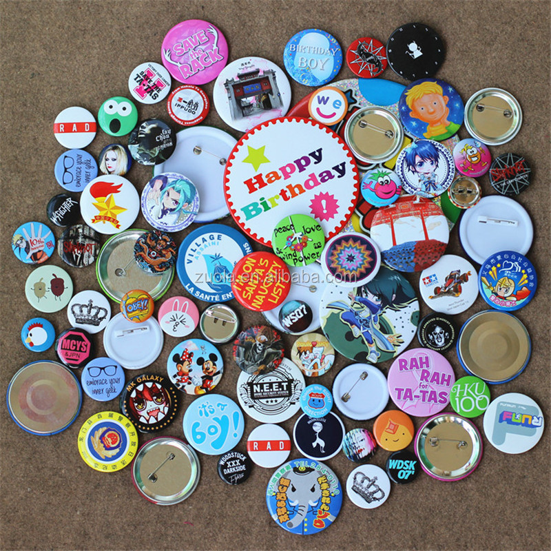cheap custom button pin badge hard enamel pin for advertisement promotion