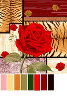 panel print polyester fabric for bedding flowers design