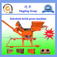 Excellent performance clay soil interlocking brick making machine price YF2-40