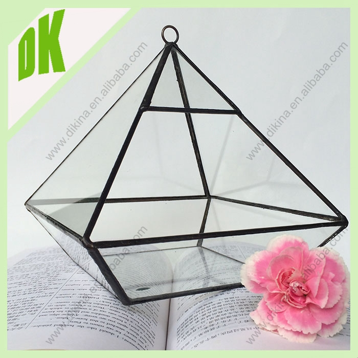 Australian hot sell Modern Air Plant Glass Terrarium Cube, Small Crystal Stained air plant glass terrarium for wedding decration