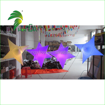 2016 Amazing Inflatable Party lighting star with LED lights