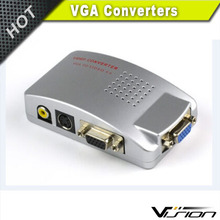 Computer PC Laptop to TV Converter Box- VGA to RCA S-Video Composite Adapter Switch