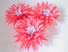New Products Dahlias Paper Flower Wedding Decoration Giant Paper Flower