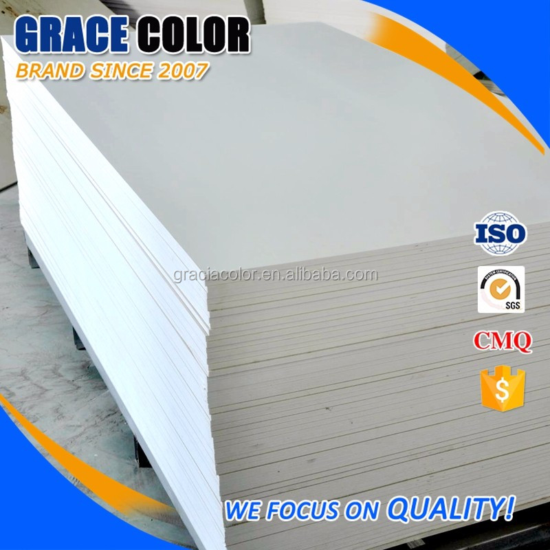 Thin UV printing white factory pvc sheet