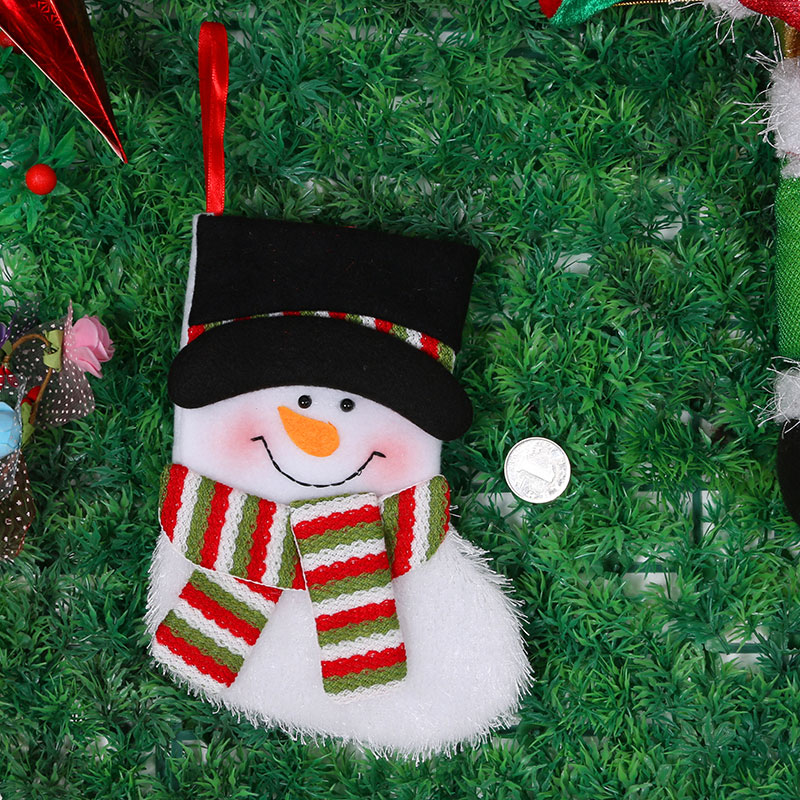 Christmas decorative plush snowman socks christmas hanging decoration