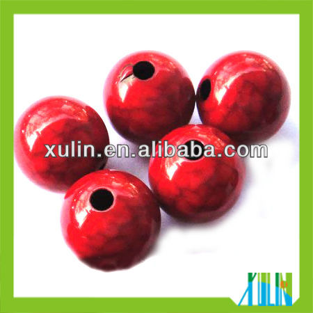 new jewelry finding red cracked solid acrylic round beads