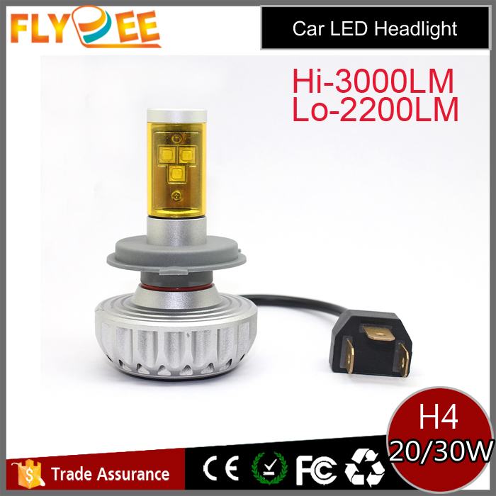 Changed color super bright Crees chips 3S 3000lm H4 led headlight 40W led bulb DIY motor lamp h1 h3 h7 h8 h9 h13 led headlight