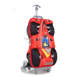 Nice Cute EVA Racing Car Kids Trolley School Bag Kids Luggage Wholesale