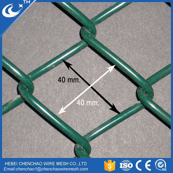 chain link fence Pvc Coated Diamond wire mesh galvanized chain link mesh