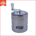 Metal Tobacco Grinder With Handle JL-071JA Herb Spice Grinder Machine