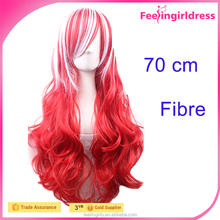 Factory Direct Sale Mixed Red White Cosplay Wig Human Hair Wig