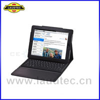 For ipad 4 keyboard leather case with bluetooth and stand function