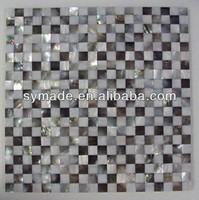 White River Shell and Black Sea Shell Mosaic Tile Wall Decoration