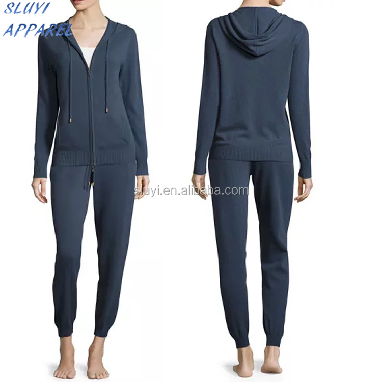 Cashmere Jogger Zip-Front winter pajamas fashionable winter keep warm for women pajamas,Women Sleepwear Jacket pajamas