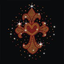 Fleur de lis iron on rhinestone transfer heat transfer manufacturer