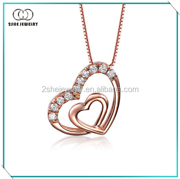 Factory Vogue sterling silver heart pendant necklace