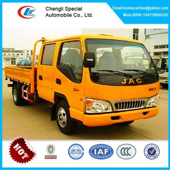 6 wheelers double cabin JAC cargo truck for sale small cargo truck for sale