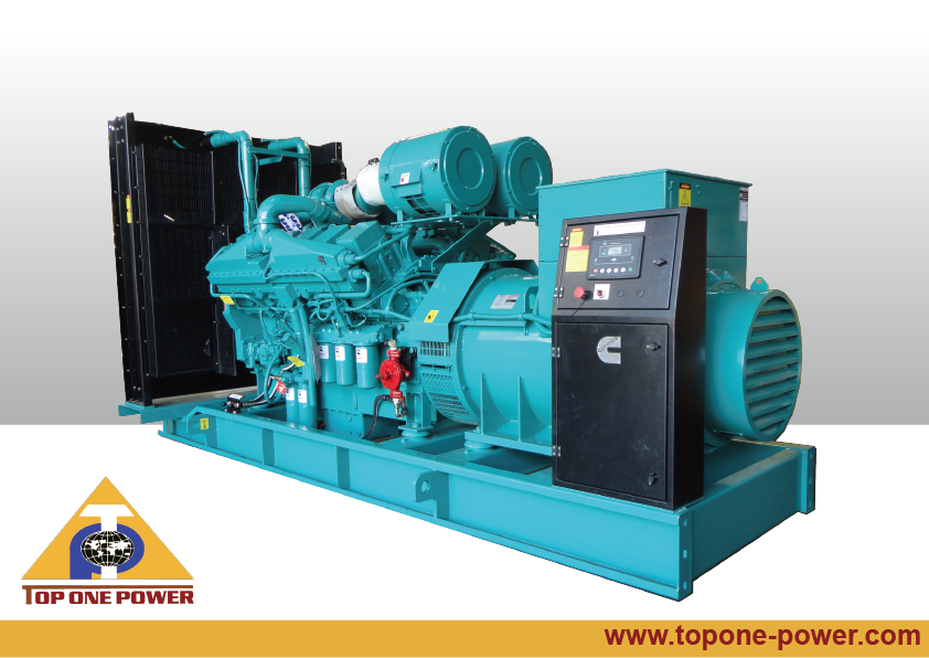 1000kW1250kVA KTA38G4/KTA38G5 Cummins Diesel Generator Soundproof Silent Open type -Top One Power