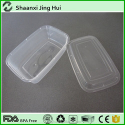 3-compartment transpartment PP food grade bento lunch box containers