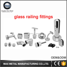 Stainless steel balcony glass railing fittings,railing parts for swimming pool handrails baluster