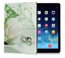 flower leather pu tablet case for ipad mini with auto sleep wake function