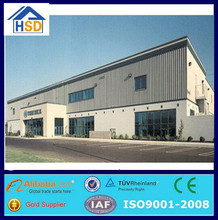 prefabricated portable steel structure cheap metal roof warehouse
