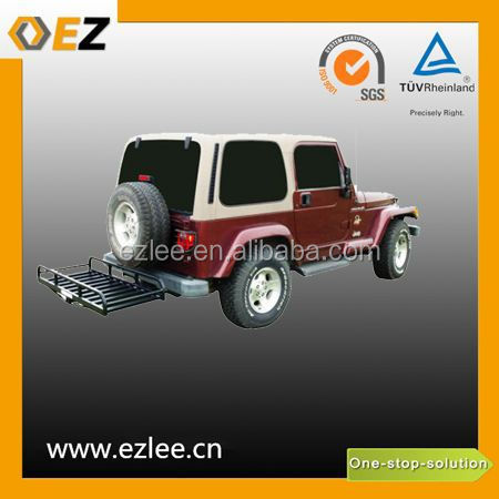 500LBS Bulk Foldable Black Powder Coated Car Cargo Carriers