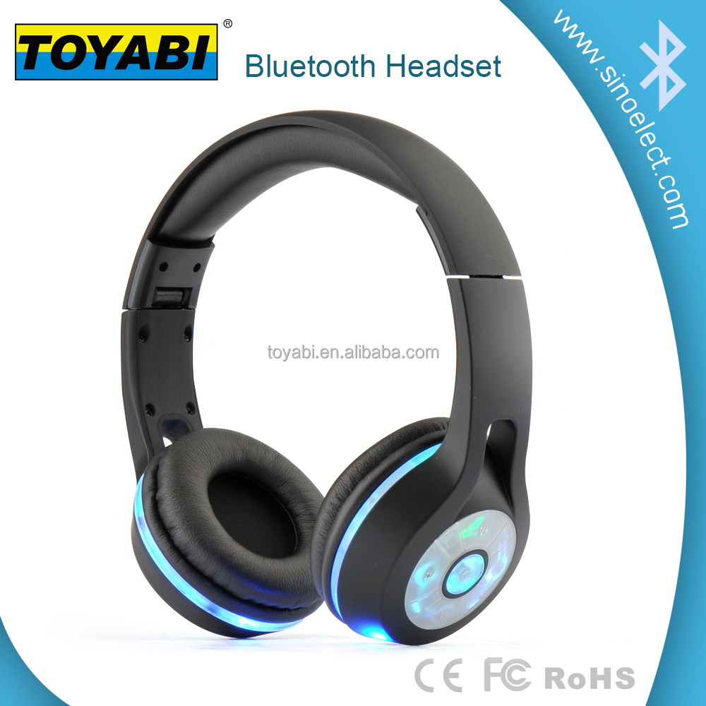 LED flash bluetooth headphone with stereo sound Lighting wireless foldable style comfortable cursions latest style