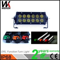 Automatic Equipments Dual Rows 36w LED LIght Bar 7 inch Led Driving Light