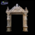 exterior natural white stone antique door frame design with lady statue