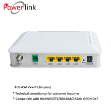 Fiber Optic 4GE+WIFI+CATV Ftth Onu Gepon Onu Fiberhome Ont Gpon Ftth Equipment