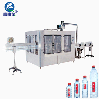 ISO9001 Certified automatic cgf14-12-5 drinking plastic mineral bottle water filling machine