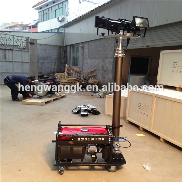 9m Tower Mast Mobile Light Tower With Air Cooled Diesel Generator