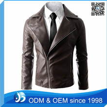 Custom Leather Jacket Motorcycle, Asymmetry Zipper Motorcycle Faux Leather Jacket