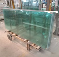 Anti-Uv 810mm+1.52PVB+8mm Safety Tempered Laminated Glass Panels For Exhibition Hall,show room