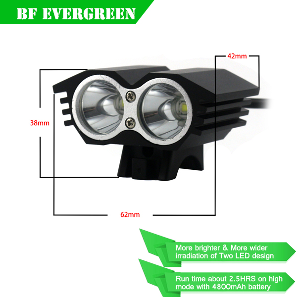LED Cycling Bicycle Bike Light Lamp HeadLight Headlamp 3000 Lumen 2x CREE XML T6